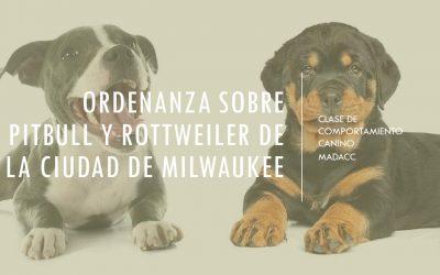 Ciudad de Milwaukee Clase de pitbull / rottweiler requerida por copia de DNS