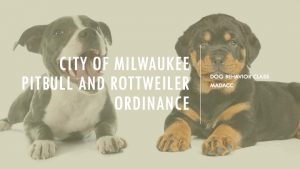 City of Milwaukee Pit Bull/Rottweiler Class Required by DNS
